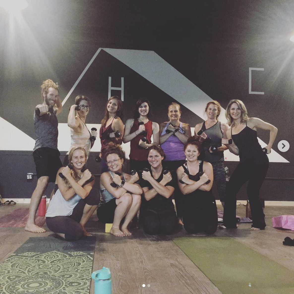 The Ahimsa Chisel training was a success! Our teachers are ready to help you get stronger! P.s. don't mind the paint - that's the old paint from the church that was in the space prior.