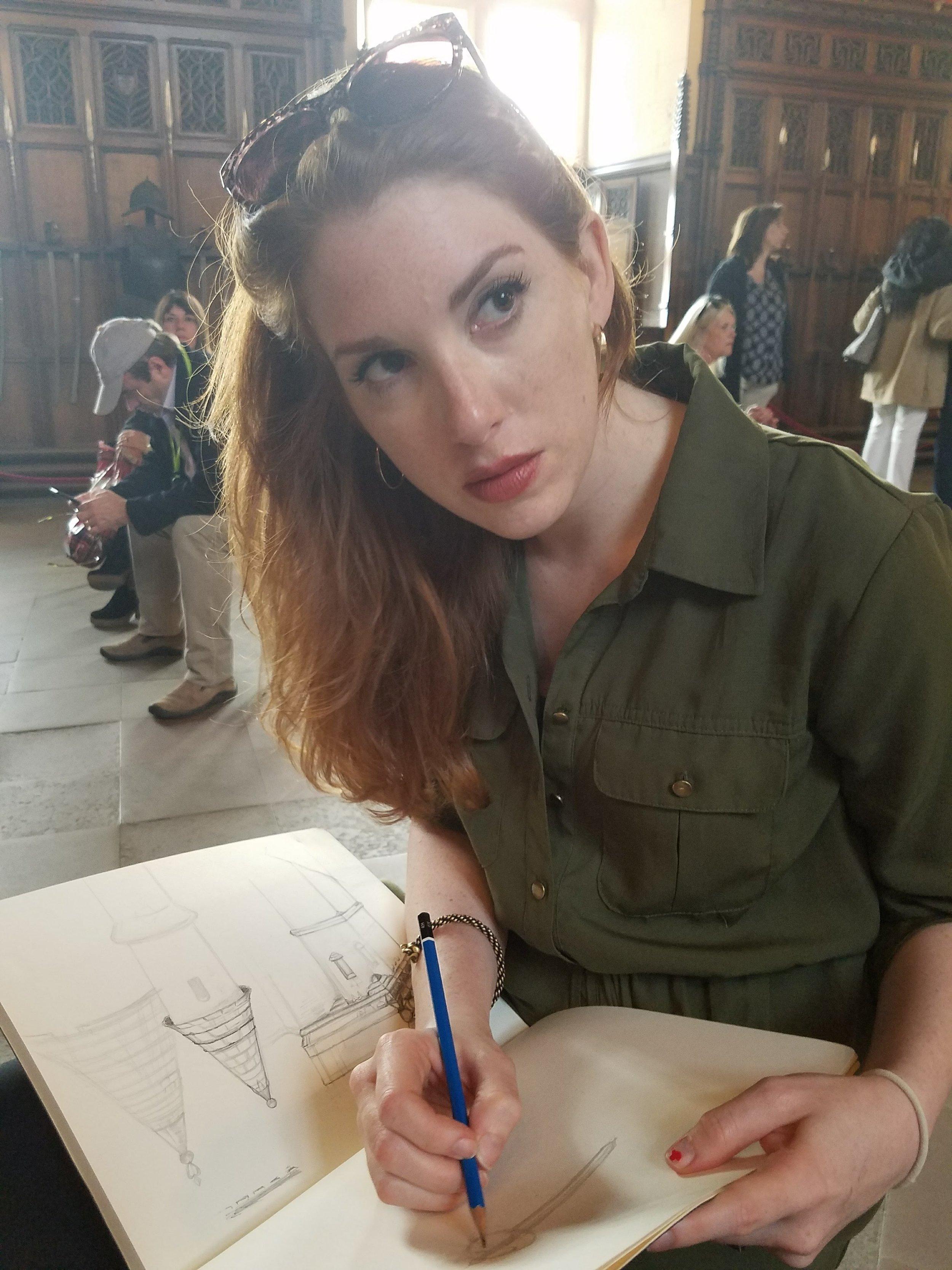 ~Sketching in Edinburgh Castle~