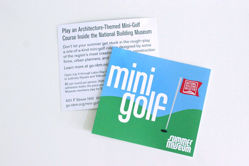 Flyer promoting Mini Golf in summer 2012