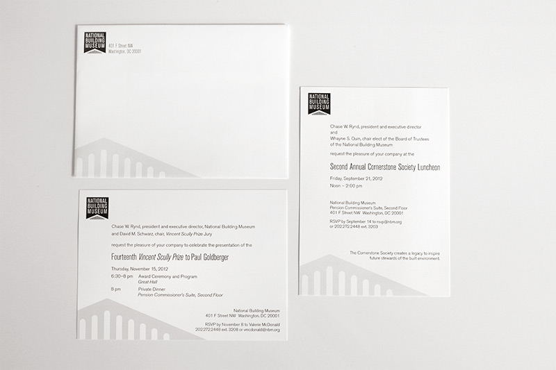Given the number of events the Museum hosts, large and small, a template invitation is necessary for the basic programs which don't require custom design. Upon the release of the new logo, I designed these templates, into which we can drop the necessary information and quickly get them in the mail to invitees.