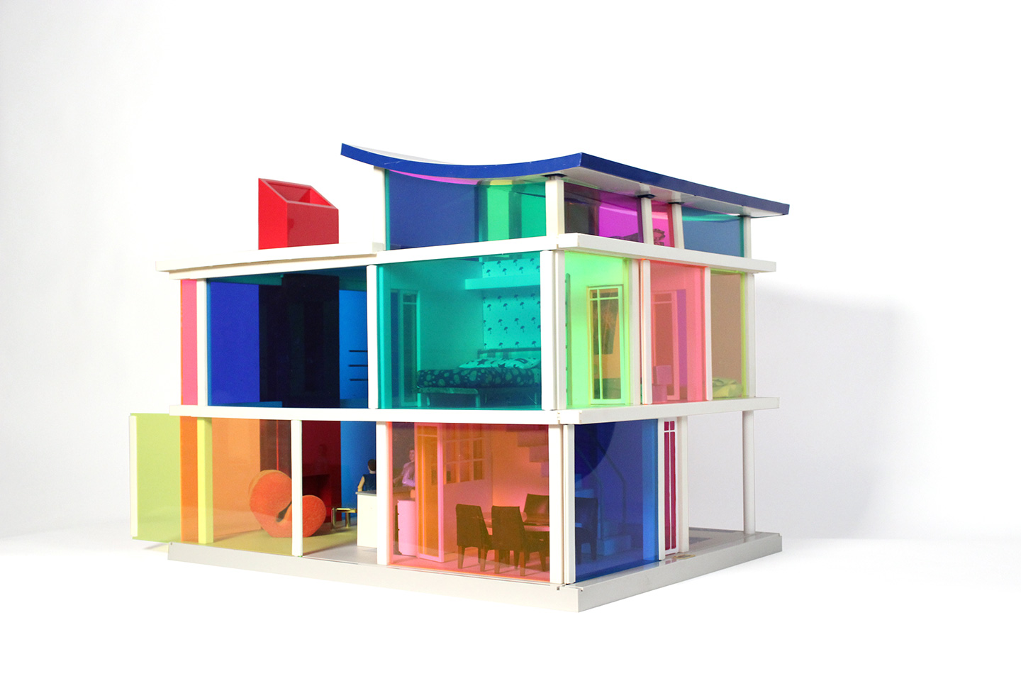 Kaleidoscope Dollhouse designed by Laurie Simmons and Peter Wheelwright.