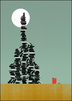 Biblioclasm. The practice of destroying, often ceremoniously, books or other written material and media.