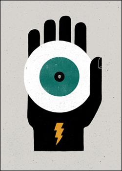 Jettatura. The casting of an evil eye.