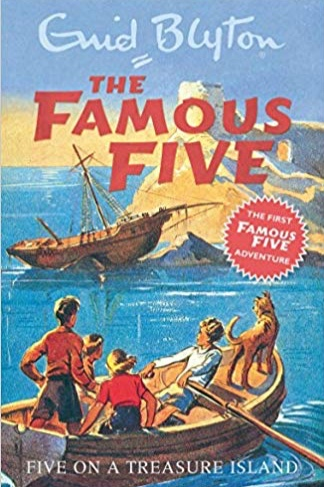 five on a treasure island , by enid blyton. my favourite author for a very long time. i wanted to be just like george/georgina.