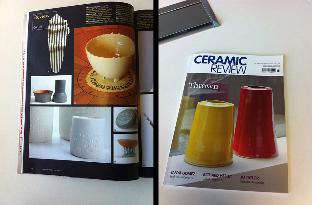 featured in Ceramic Review