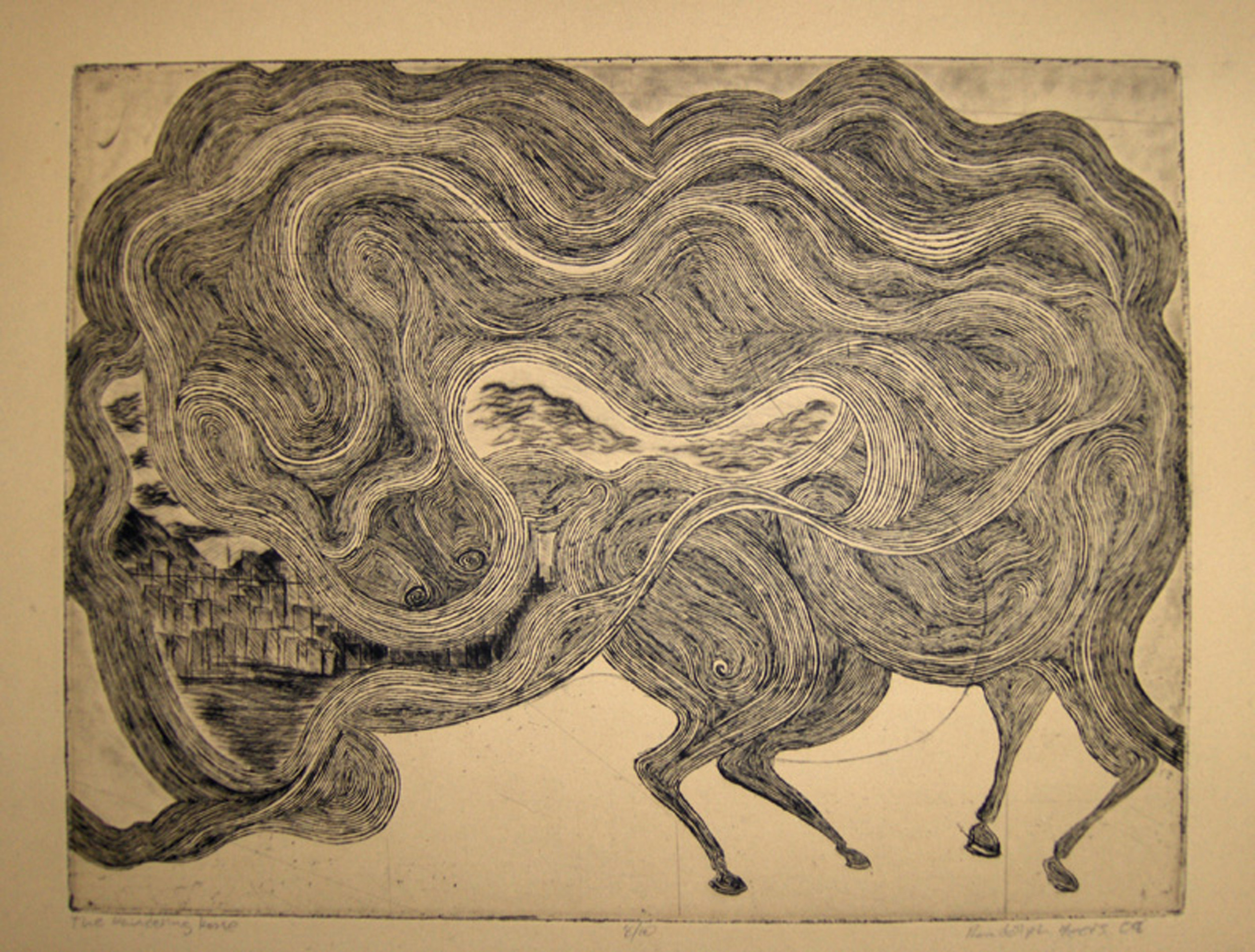 The Wandering Horse, Intaglio, 9%22x12%22, 2008.jpg