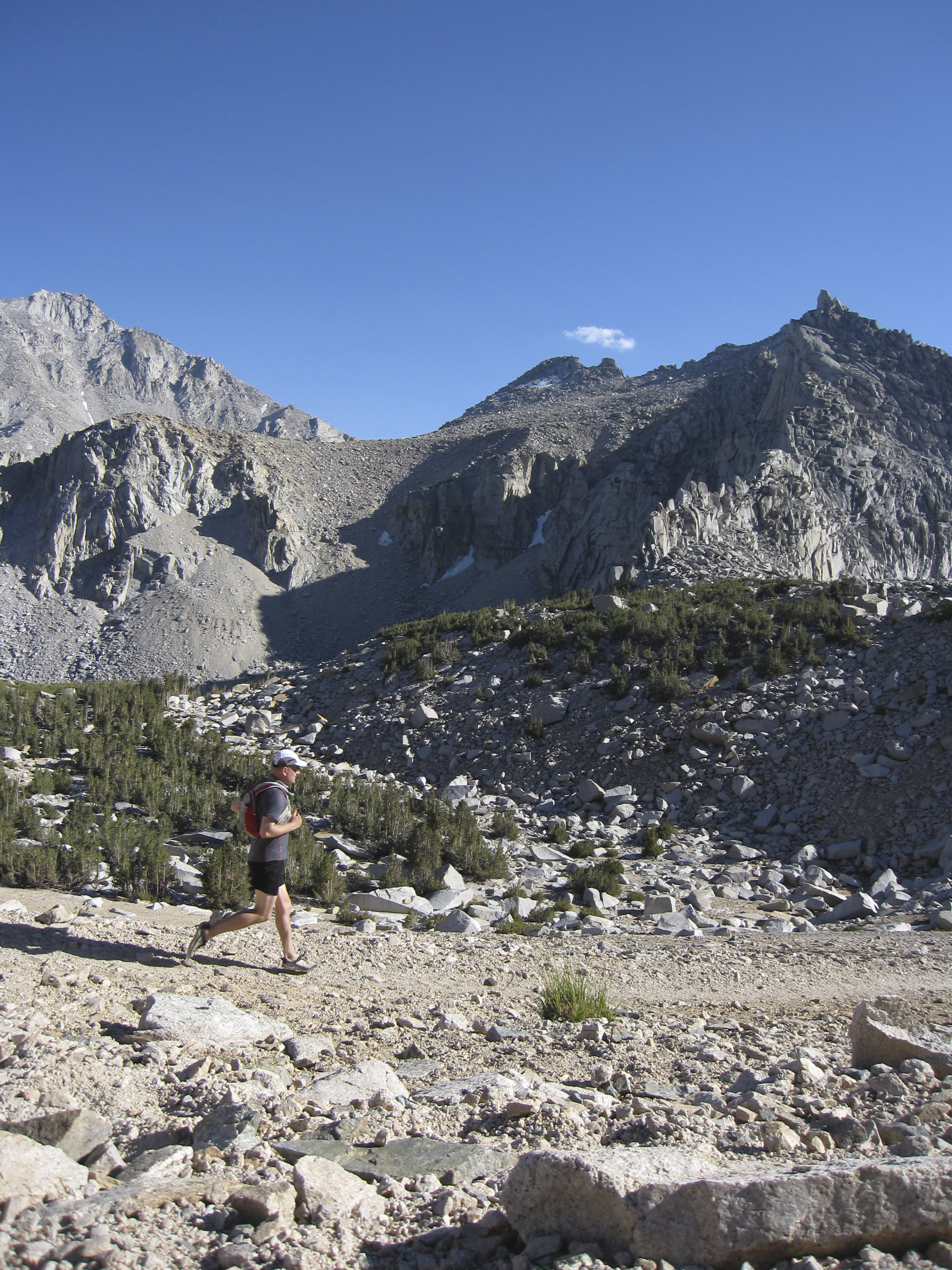 Clynton, my brother, returning from Kearsarge Pass.