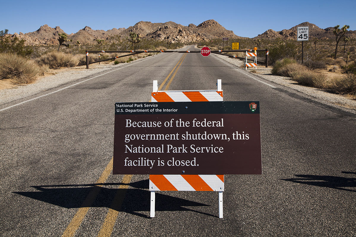 Joshua Tree National Park government shutdown