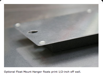 Float Mount, No Frame Example for Metal Prints