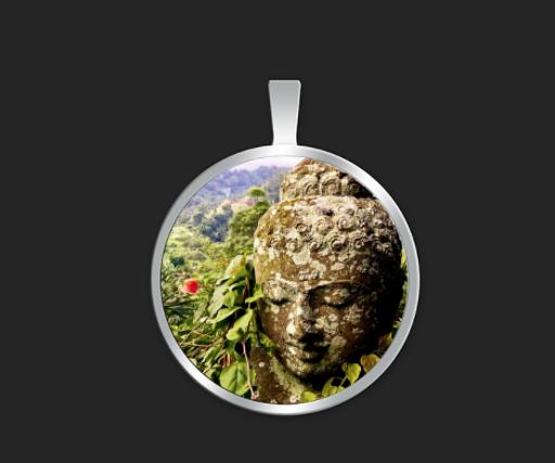 Bali Buddha small round $35