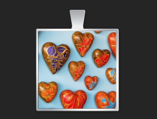 Mexico hearts large square $40