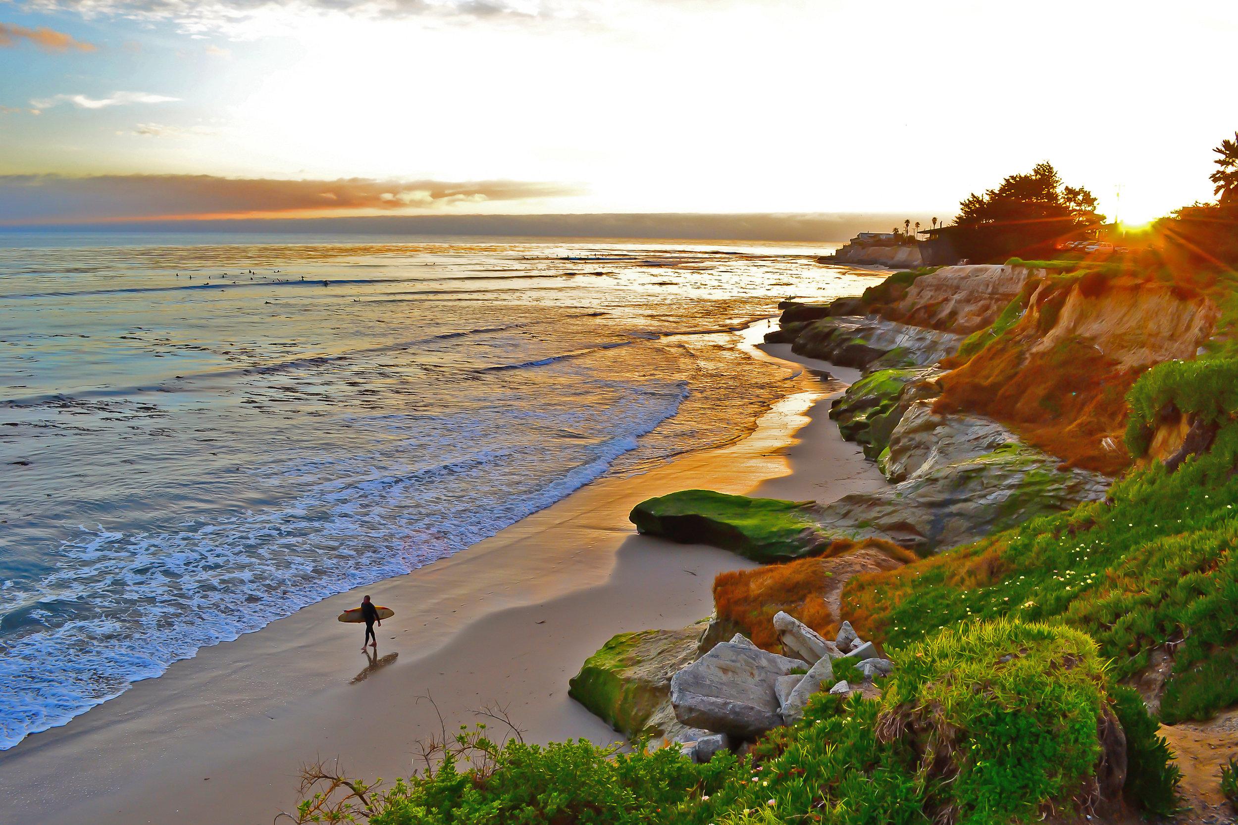 Pleasure Point Surfer Santa Cruz, CA