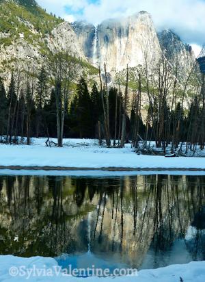 Yosemite Falls Full Reflection
