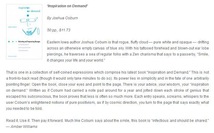 Review of Kindle eBook version of Inspiration on Demand. Purchase eBook by clicking review above.