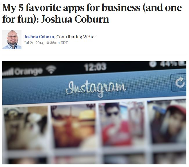 Joshua Coburn talks apps for The Business Journals.