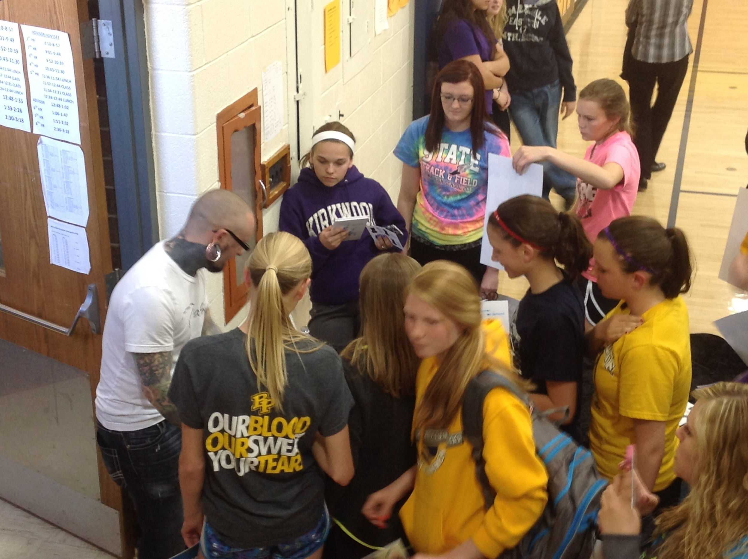 Mingling with Students on the Manners & Motivation Tour!