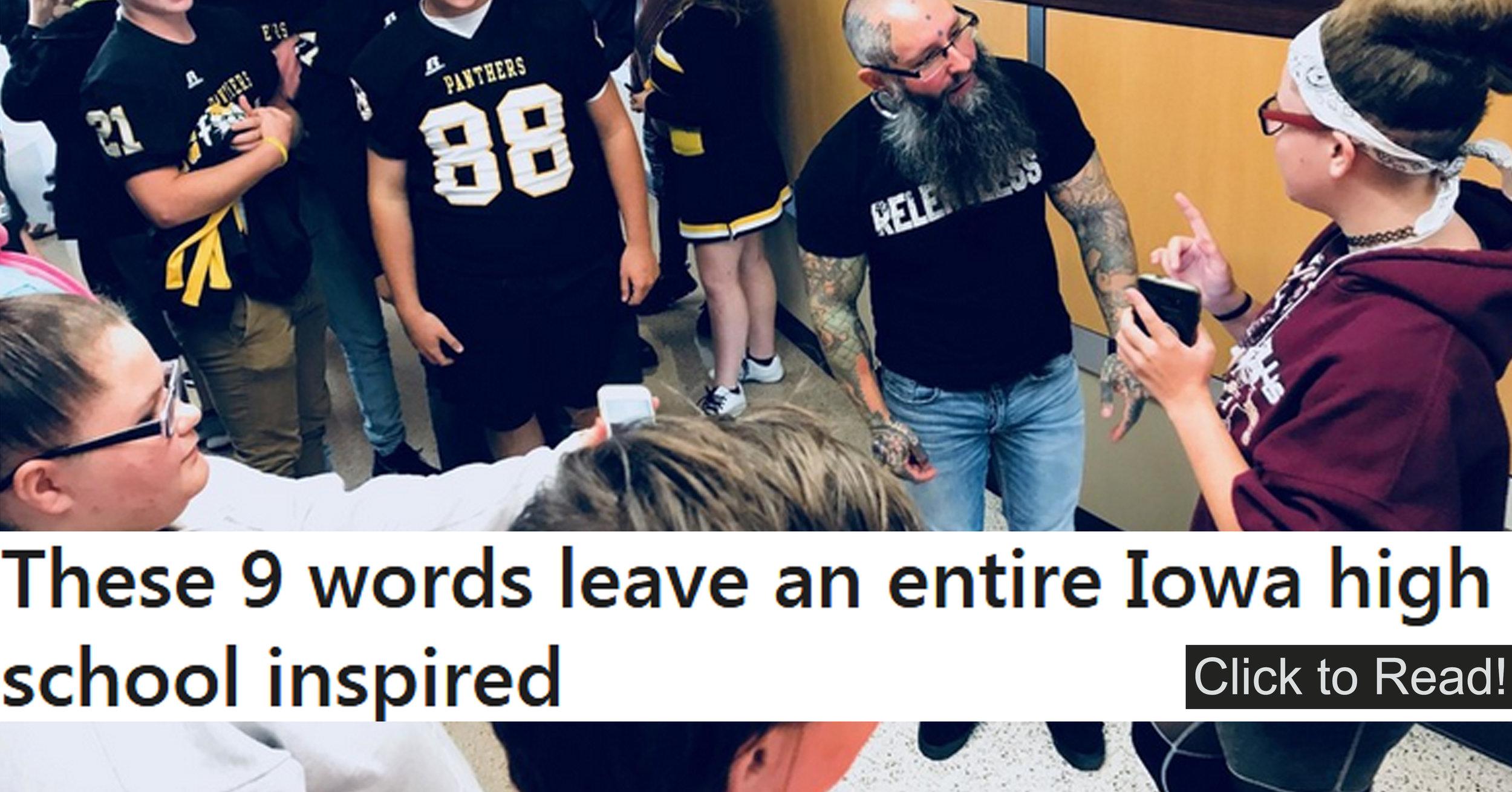 Joshua Coburn inspires entire High School in just nine words!