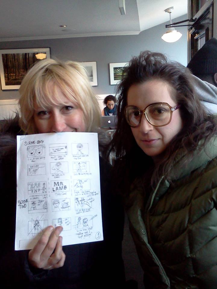 MR LAMB - Director Jean Pesce and lead actress Aysan Celik refer to storyboards.jpg