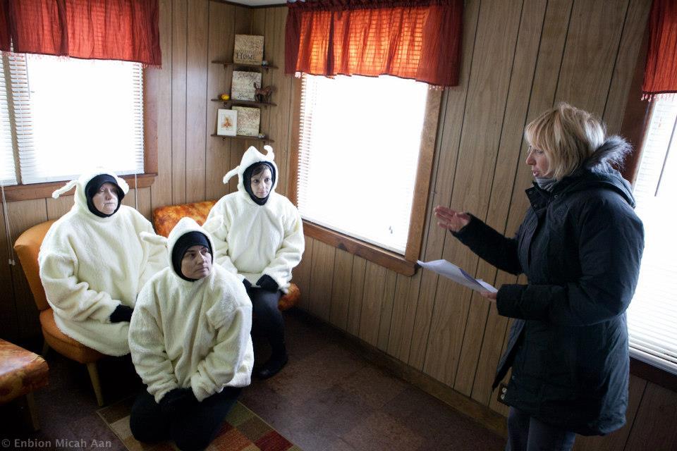 MR LAMB - Jean Pesce directs The Lambs - Joy Canfield, Lorie Kellogg, and Dorothea Swiac.jpg