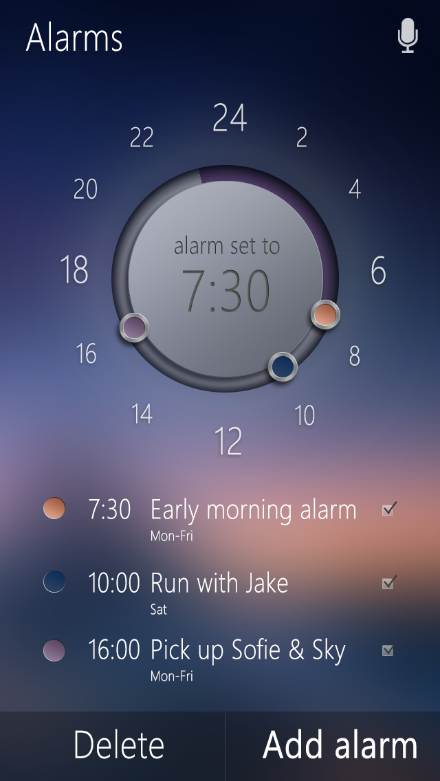 Alarm Home Page