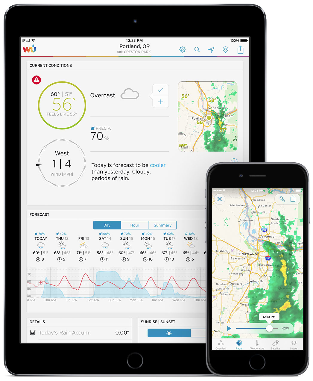 weather underground ios app ipad and iphone