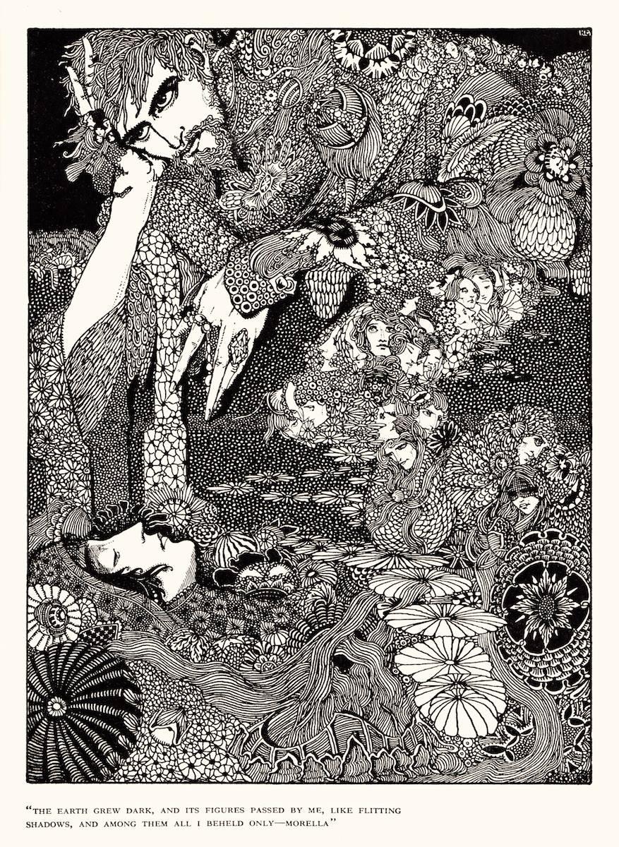 """Art by Harry Clarke for Poe's Tale """"Morella"""" (1936)"""