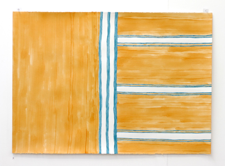 Place de la Libération, ode aux celles à venir / Freedom Square, ode to those to come - Léuli Eshraghi, acrylic on Fabriano paper, 100 x 71cm, 2014