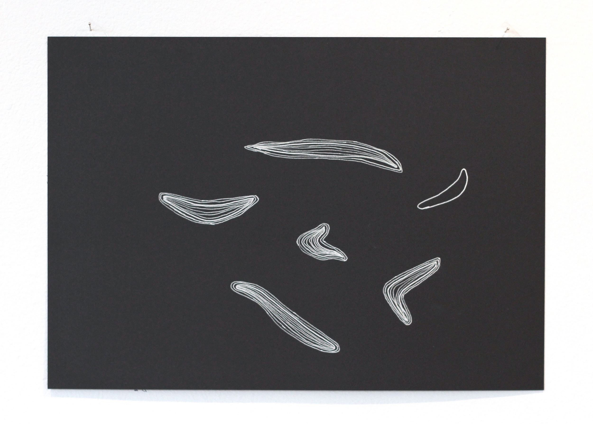 Ān fenjān hāye chāi ke bā ham nanooshidim / Those cups of tea we didn't share 2, Léuli Eshraghi, ink on card, 21 x 29.5cm, 2014