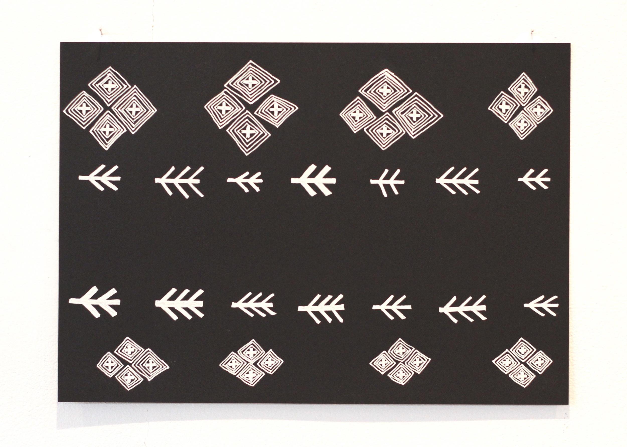 The space between 1, Léuli Eshraghi, ink on card, 21 x 29.5cm, 2014