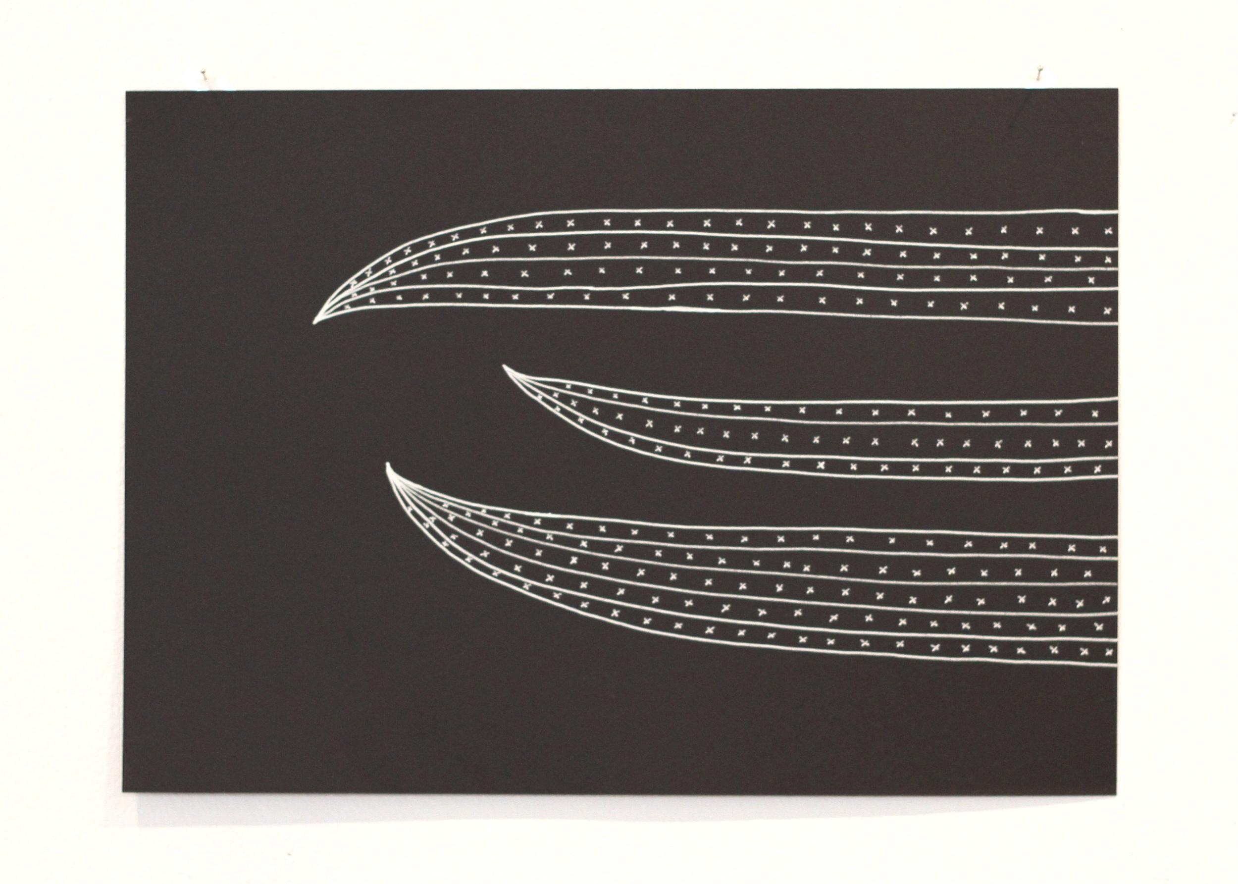 The space between 2, Léuli Eshraghi, ink on card, 21 x 29.5cm, 2014