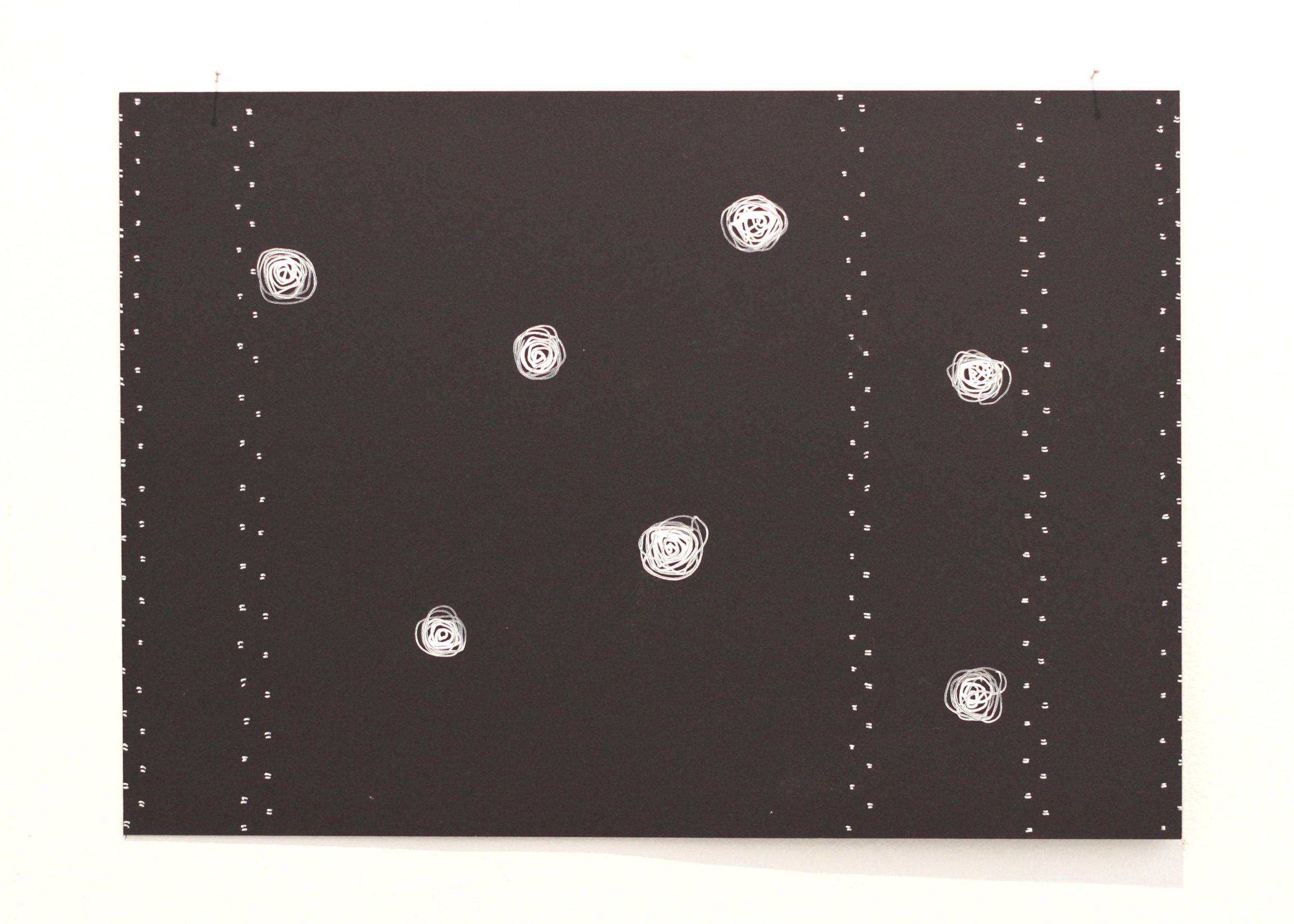'O lā āitu lāitiiti / Those small spirits, Léuli Eshraghi, ink on card, 21 x 29.5cm, 2014