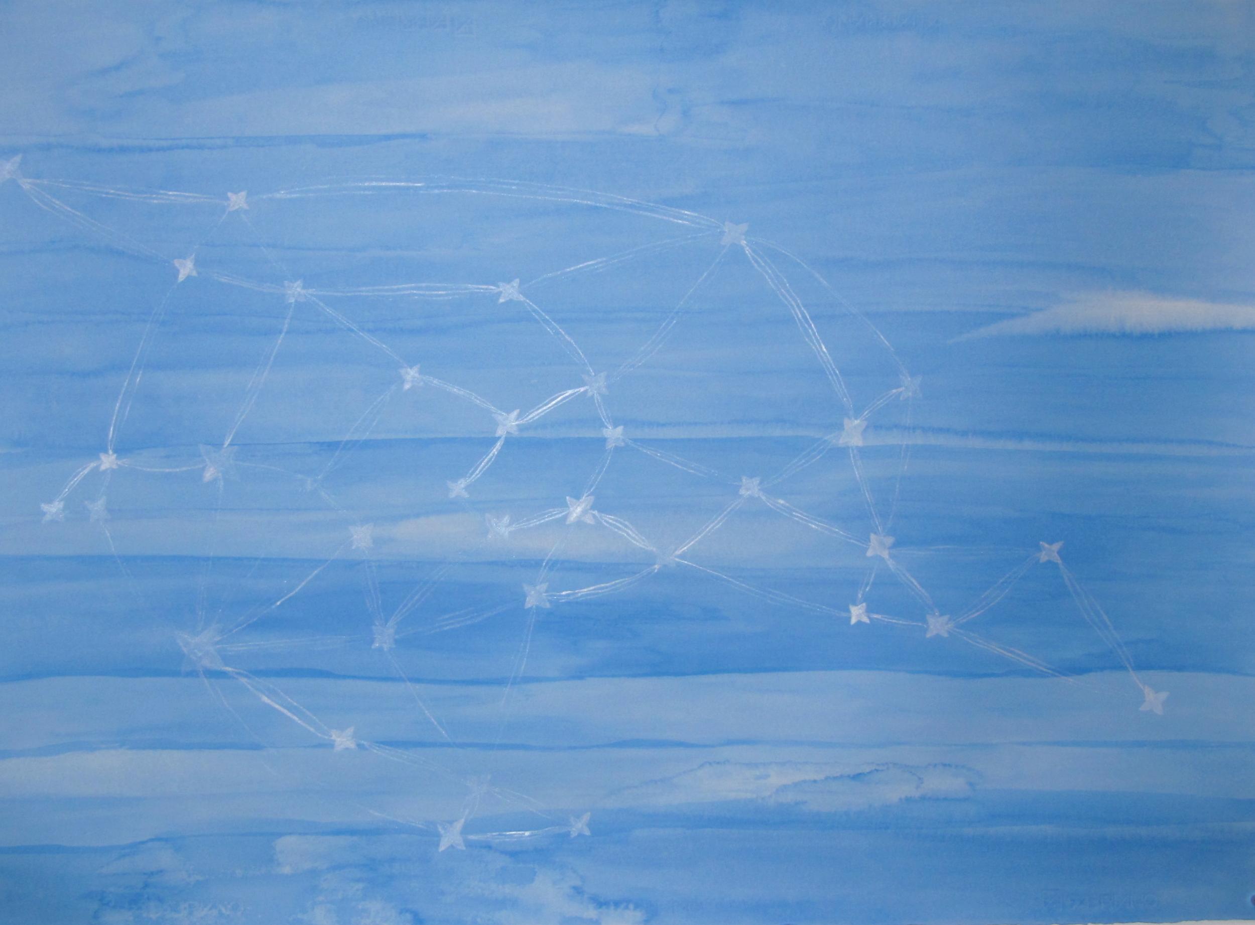 'O le tātou moana pele | Our dear ocean, Léuli Eshraghi, acrylic on Fabriano paper, 100 x 71cm, 2012