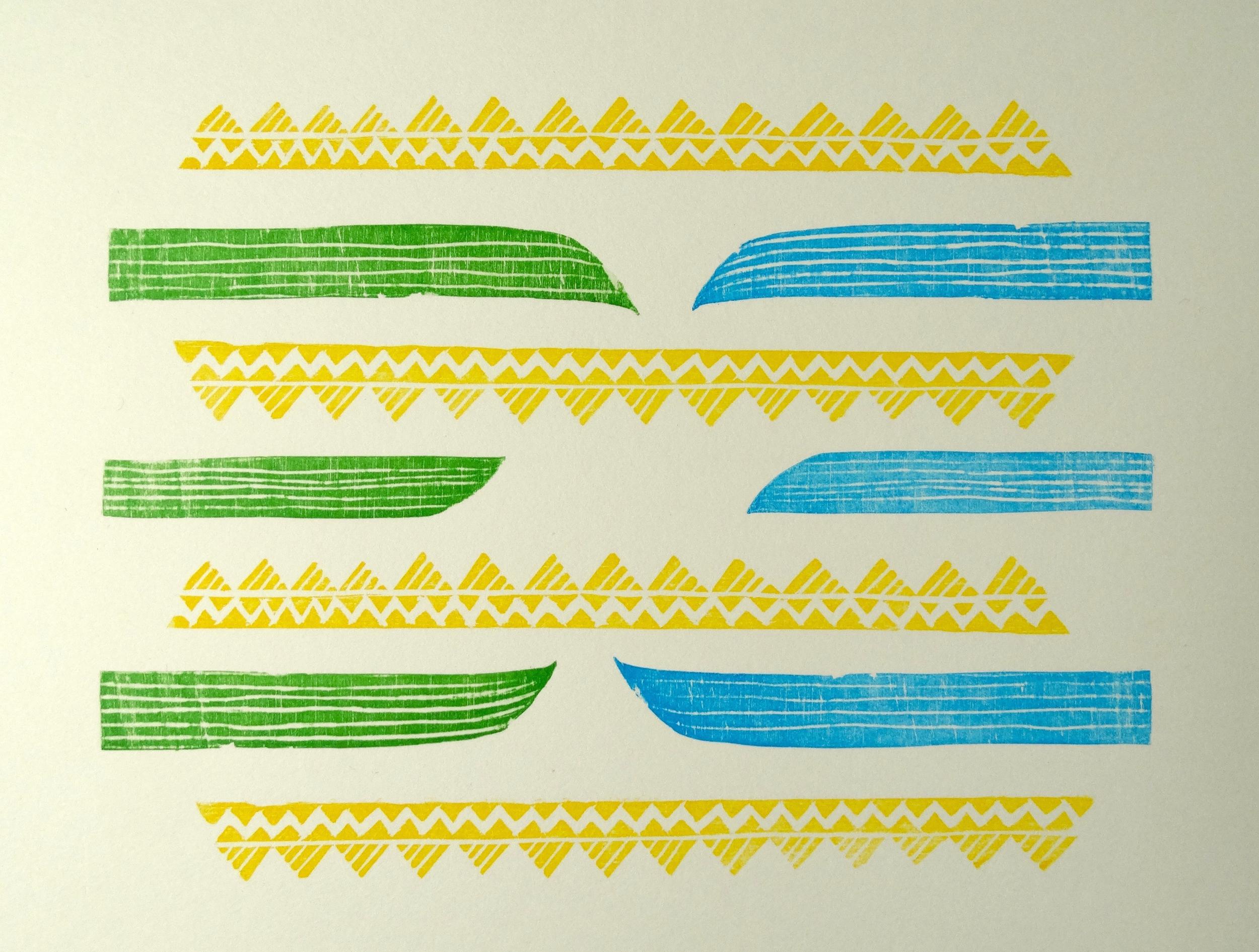 'O loimata 'o Apaula - Tears of Apaula, Léuli Eshraghi, reduction woodblock print on Hahnemühle paper, 2012