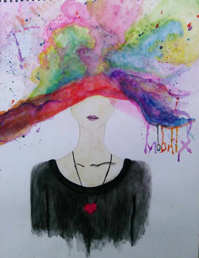 Over Thinking -abstract-Painting watercolors by moonix-20 @ diviantart