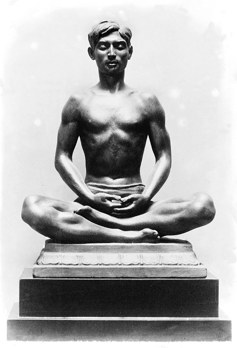 Bronze figure of a Yogi in   meditation