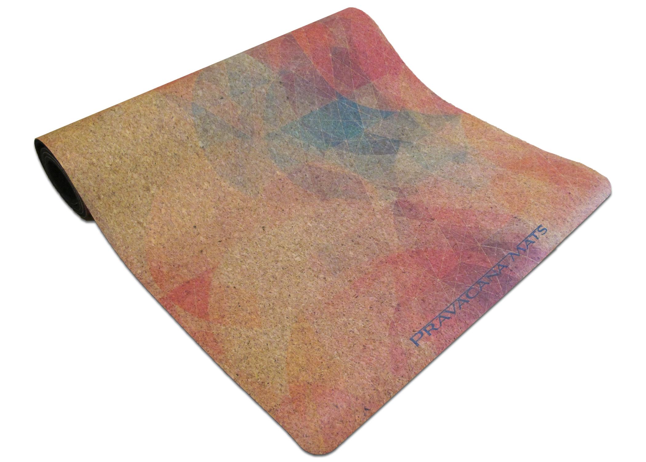 Cork Custom Printed Yoga Mat