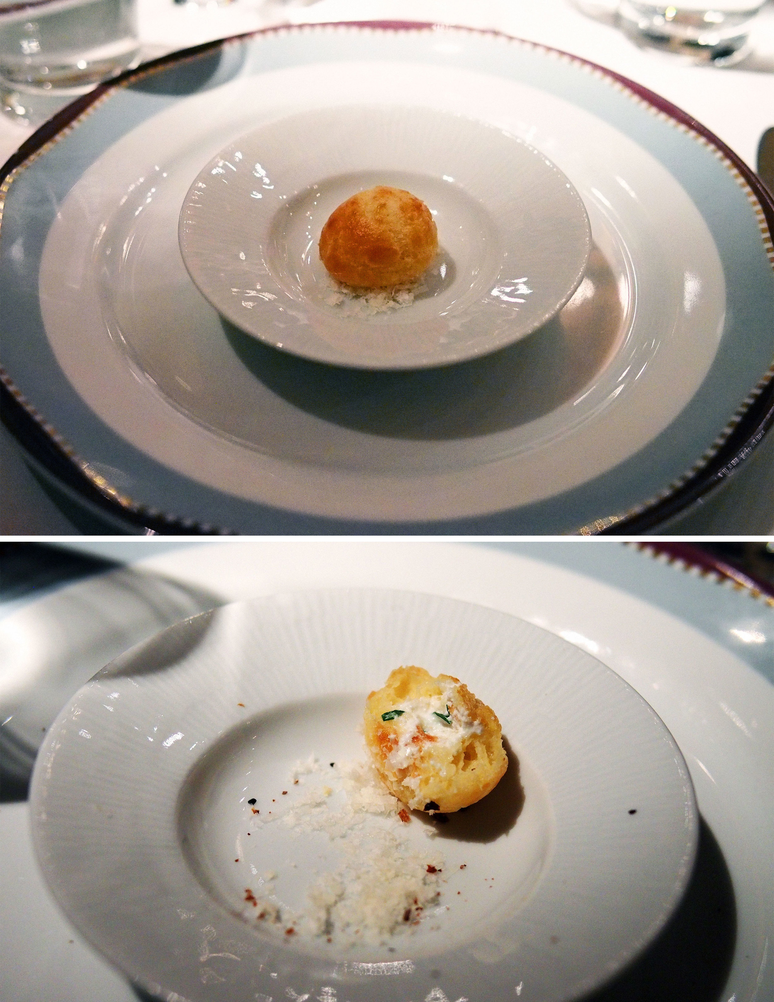 goat cheese pastry with tarragon and fleur de sel