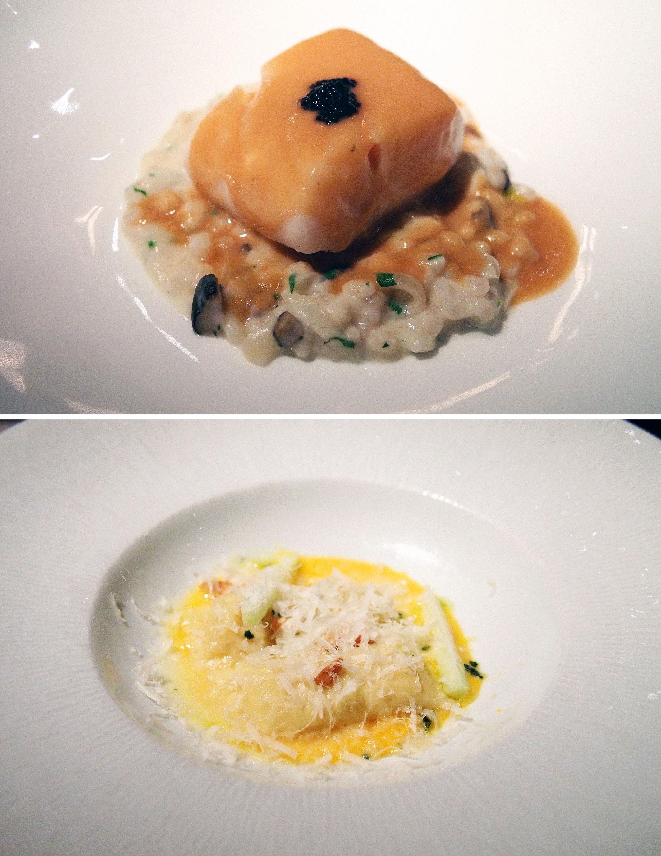 halibut and sweet potato agnolotti