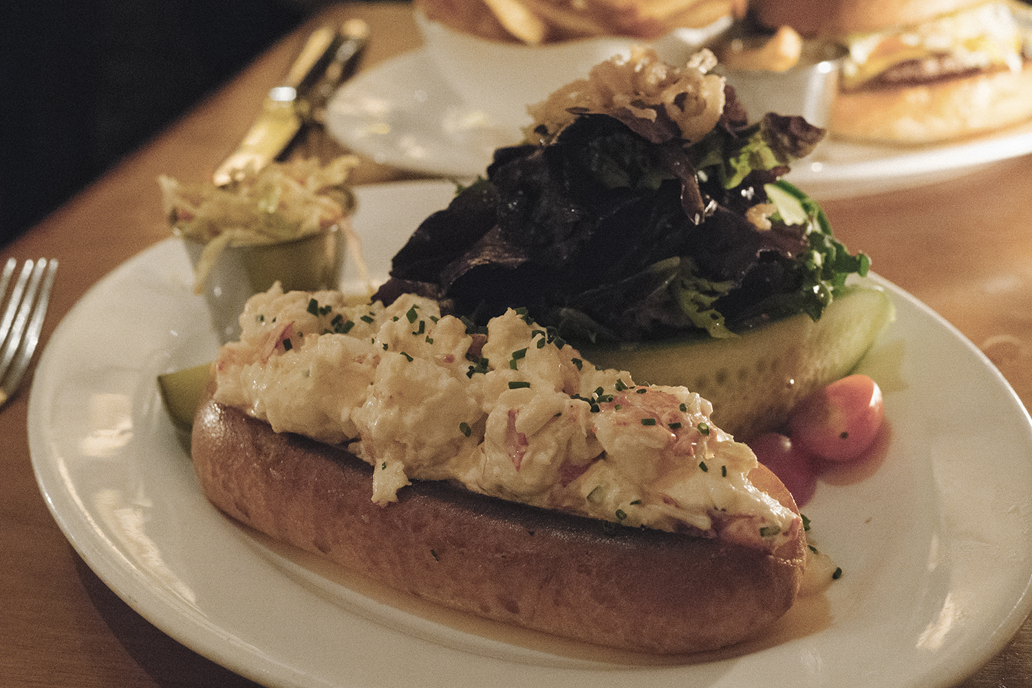 Lobster Roll for two, easily.