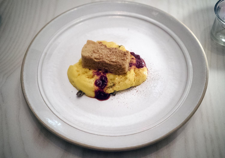 CARAMELIZED WHEY - Sugar Pumpkin, Dried Sweet Herbs, Last Summer's Raspberry, Rose Preserves
