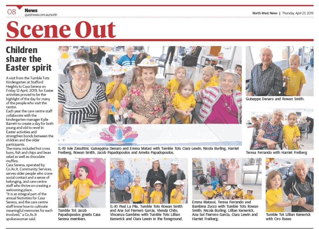 We were featured in our local newspaper as we celebrated Easter with all the Grandparents.