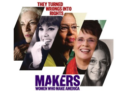 """""""MAKERS: Women Who Make America"""" tells the remarkable story of the most sweeping social revolution in American history, as women have asserted their rights to a full and fair share of political power, economic opportunity, and personal autonomy. Trailblazing women like Hillary Rodham Clinton, Ellen DeGeneres and Oprah Winfrey share their memories. MAKERS captures the voices of the women who lived through these turbulent times the joy, frustration and ultimate triumph of a movement that turned America upside-down.    Directed by Barak Goodman English 