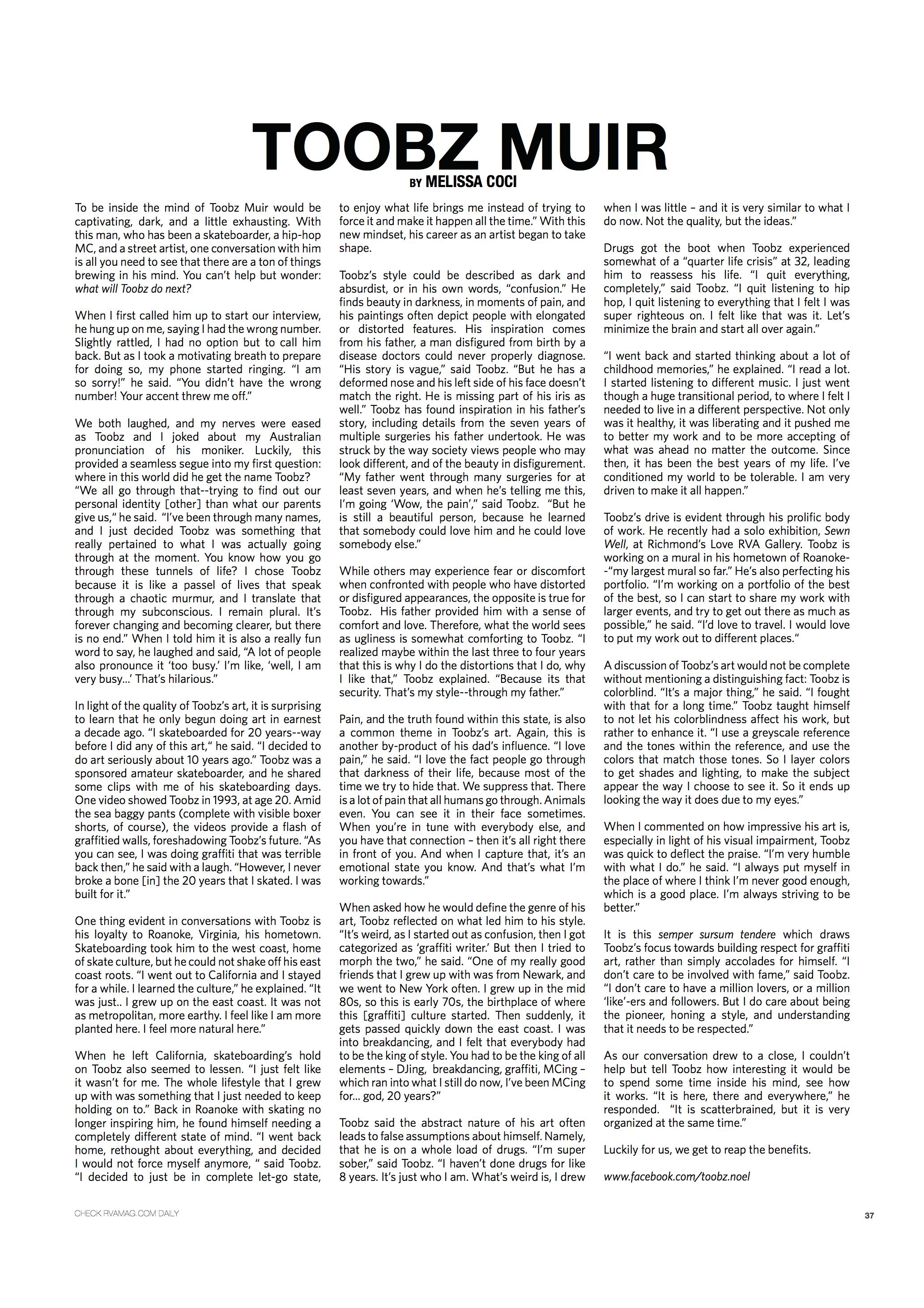 RVA Magazine, issue 15 2013