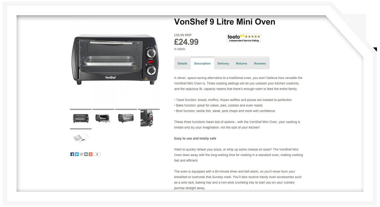 Product description: Mini oven