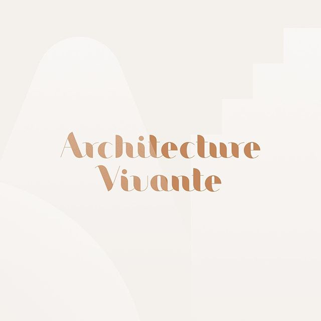 Full logotype and texture created for Architecture Vivante. - #graphicdesign #visualidentity #branding #madeinbrussels #logotype #marinevisart #dirctorscut