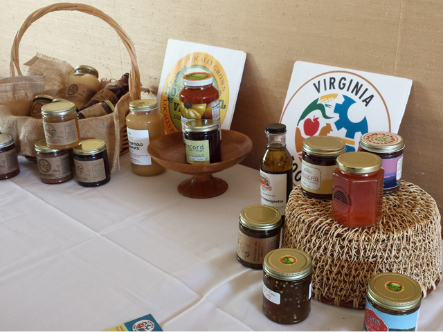 [Some foods available locally from Homegrown Virginia and Virginia Food Works.]