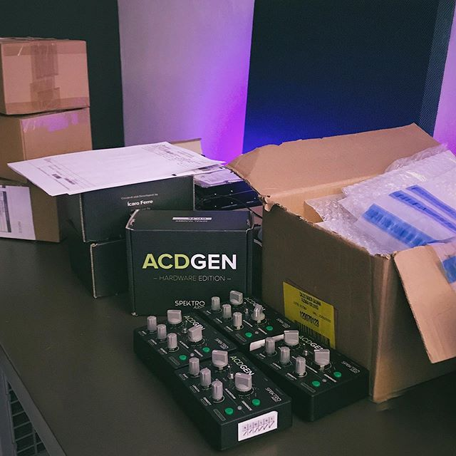 The second batch of ACDGEN – Hardware Edition is already being shipped! 🎛📦 Here's a couple of updates for those interested in getting a unit:. - If you've already received and replied to our email confirming your interest, please hang in there and I'll get back to you very soon! I've decided to focus on groups of 10 units at the time so nobody is left waiting for their unit for too long. - If you've already purchased a unit, feel free to check the status of your order at http://acdstatus.spektroaudio.com .  Oh, and If you'd like to get on the waiting list, please get in touch!  As always, feel free to get in touch if you have any questions!  #acdgen #spektroaudio #midi #sequencer #algorithm #generative #music #generativemusic #synth #synthesizer #studio #proaudio #hardware #standalone #musicinstrument #instrument #audio