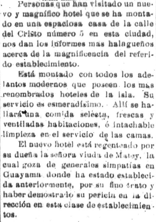 Imagen #2: Presentación de la mujer como administradora. (1904). Hotel Magnífico.  La democracia .