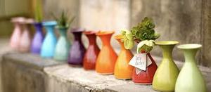 NEW AT TABLETOP! LITTLE SHIRLEY VASES COME IN A WHOLE SPECTRUM OF COLORS!