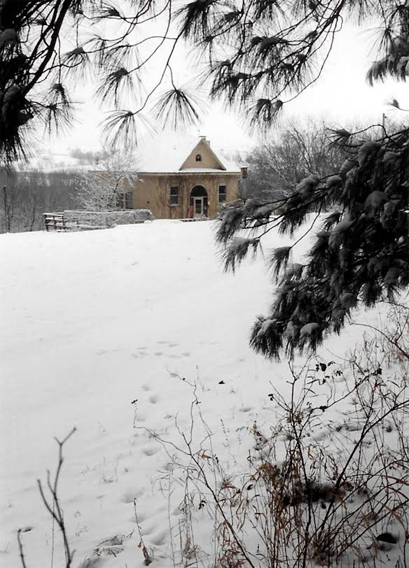 Marc's schoolhouse in winter